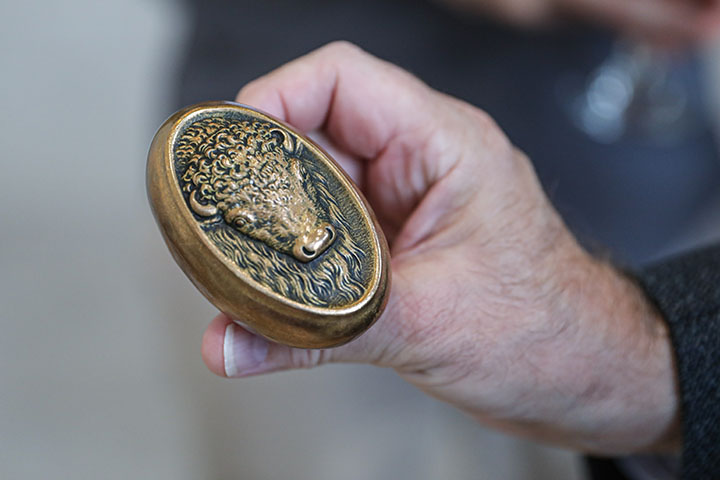 Brass door knob from the Law Courts Building found in Time Capsule.