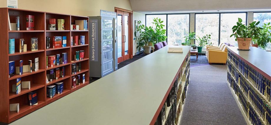 photo of library reference area