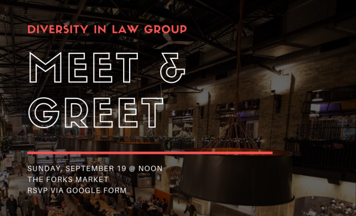 Diversity in Law Group poster for Sept 19 event